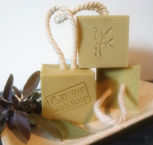 B.nature I Handmade natural herbal soap with salvia and olive oil