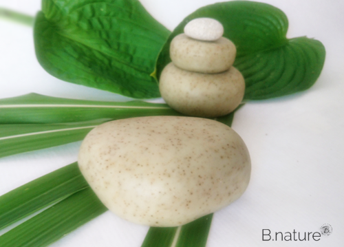B.nature I Handmade Spa Peeling Soap Stones with Babassu & Olive Oil