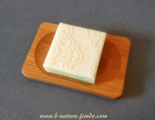B.Lily-White natural handmade impression mat swirl soap with sweet almond oil