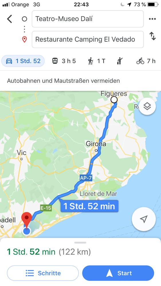 Figueras nach Vallromanes