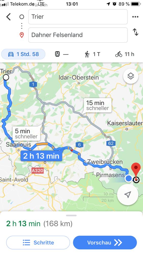 "Erste Etappe: Trier, Wasserbillig (Luxemburg), Dahn Camping ""Büttelwoog"""
