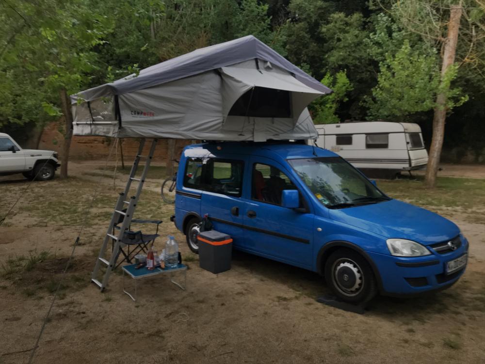 Kaum war mein Zelt aufgebaut und gesichert ...
