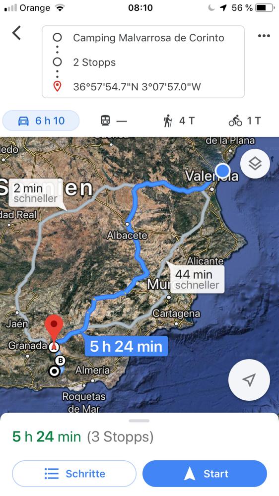 Meine heutige Tour: über Guadix und den La Ragua-Pass zu meiner Cousine zum Montenegro (Alpujarras de la Sierra)