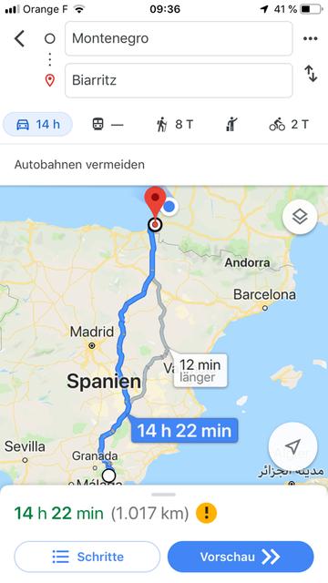 Statt wie geplant nach Donostia/San Sebastian bin ich direkt nach Biarritz durchgefahren.