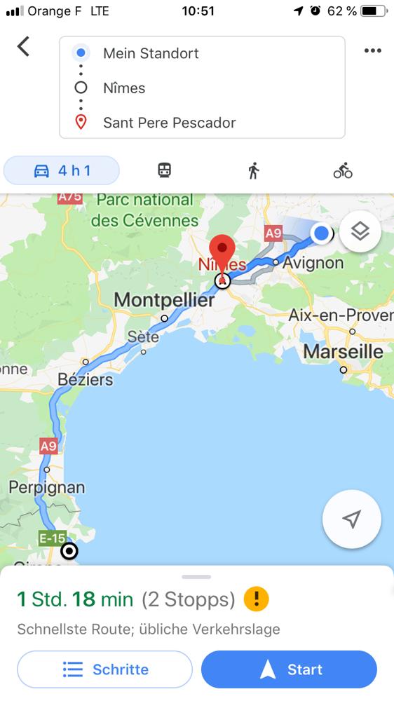 Meine Route heute.