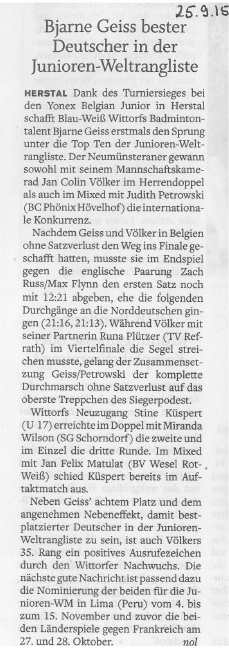 Holsteinischer Courier vom 25.09.2015