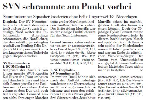 2. Spieltagswochenende Kieler Nachrichten