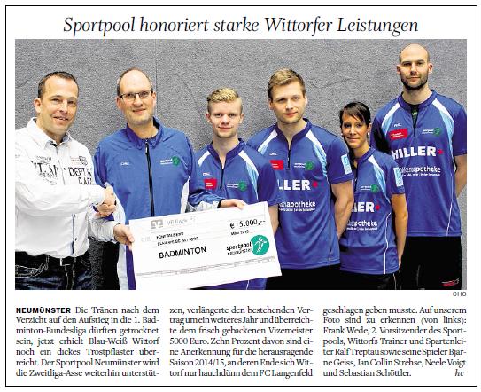 Holsteinischer Courier, 16.04.2015