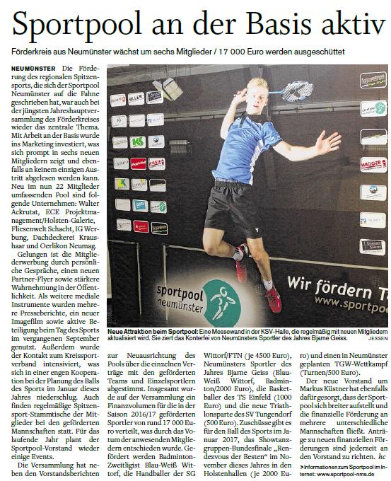 Holsteinischer Courier, 10.03.2016