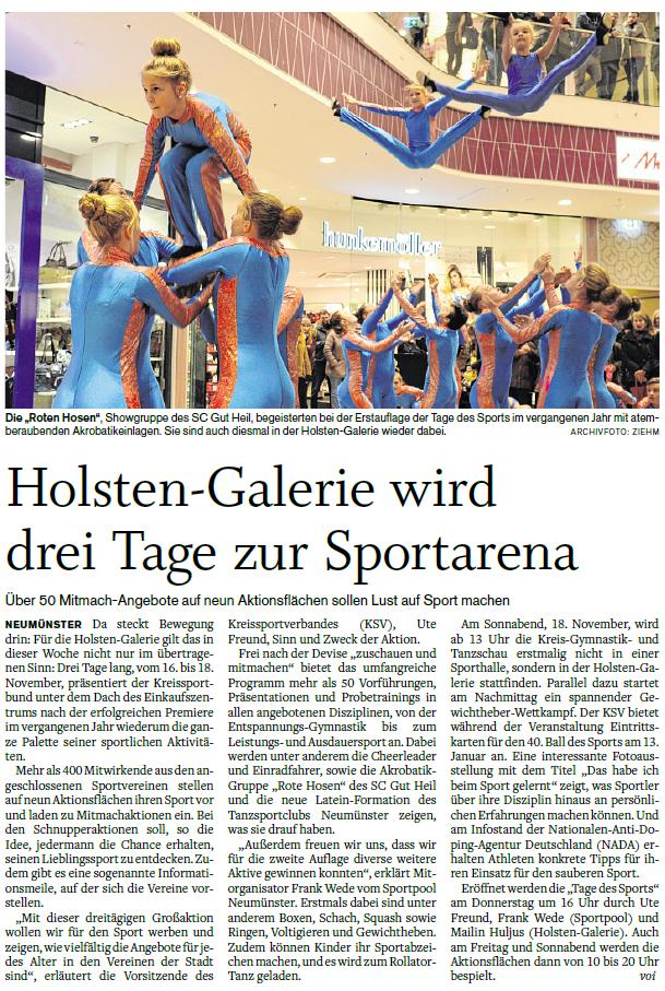 Holsteinischer Courier 14.11.2017