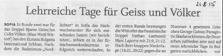 Holsteinischer Courier vom 26.08.2015