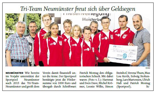 Holsteinischer Courier, 11.08.2015