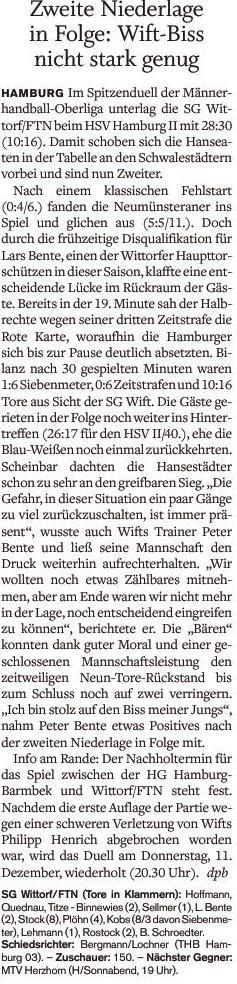9. Spieltag, Holsteinischer Courier
