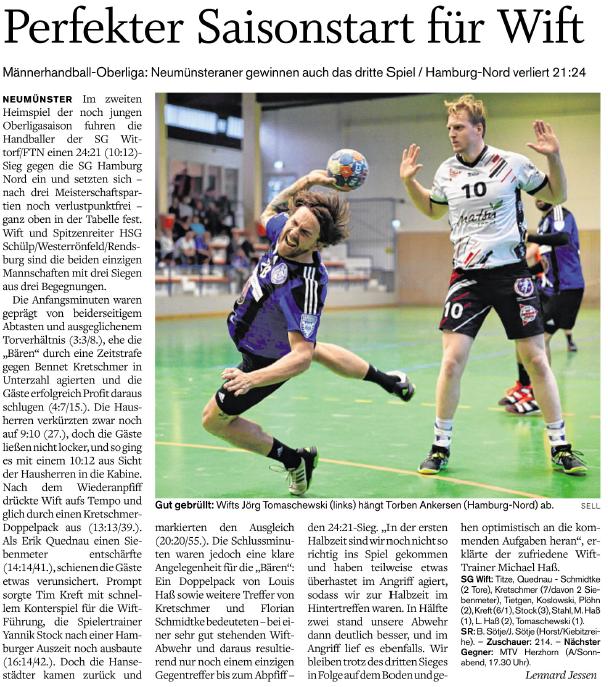 3. Spieltag Oberliga 2017/2018