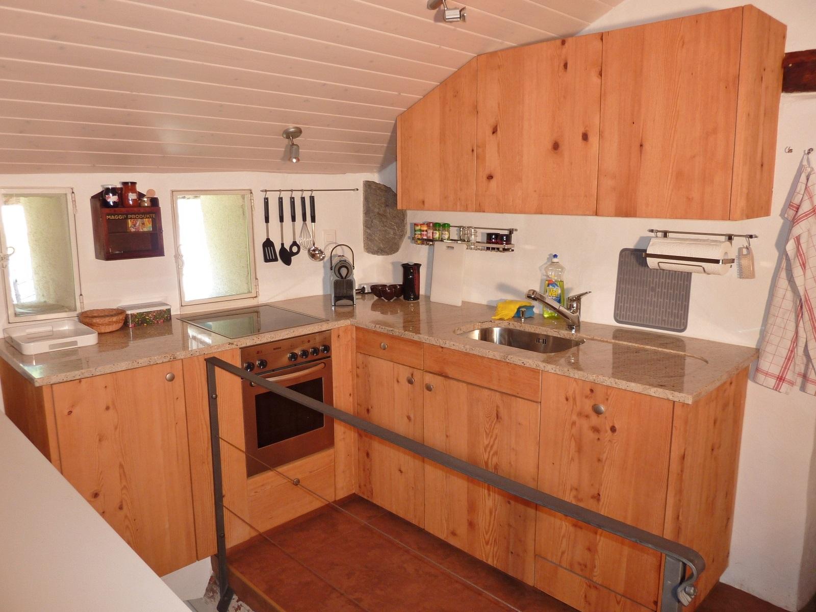 Im oberen Geschoss: die Küche