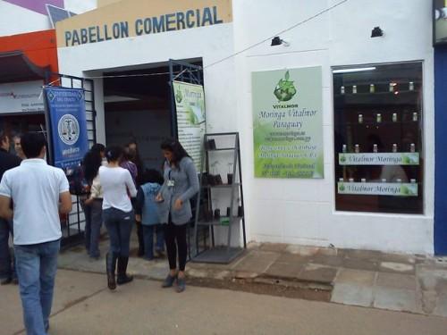 Entrada al Pabellón Comercial de la Expo de Paraguay