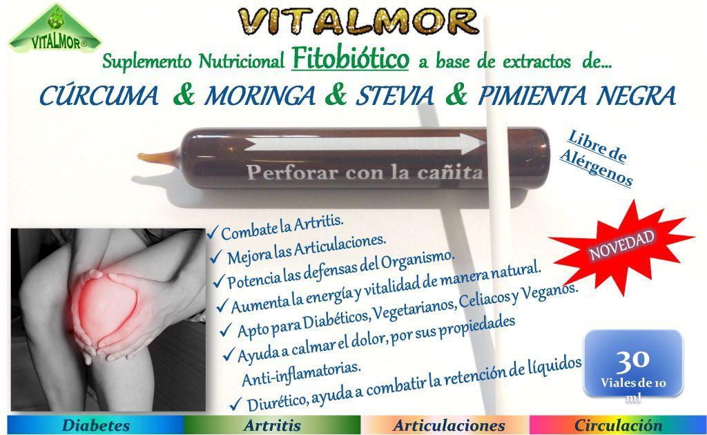 Moringa + Curcuma + Stevia + Pimienta negra (/Articulaciones)