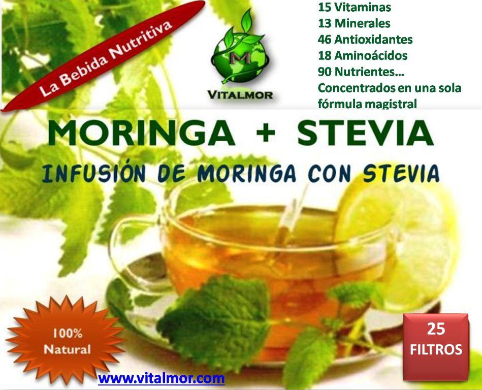 Infusión de Moringa con Stevia
