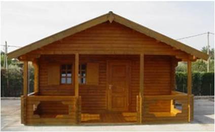 Cabaña de madera de 35 m2