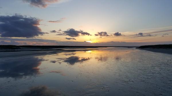 BAIE DE SOMME, coucher de soleil St Valéry sur Somme