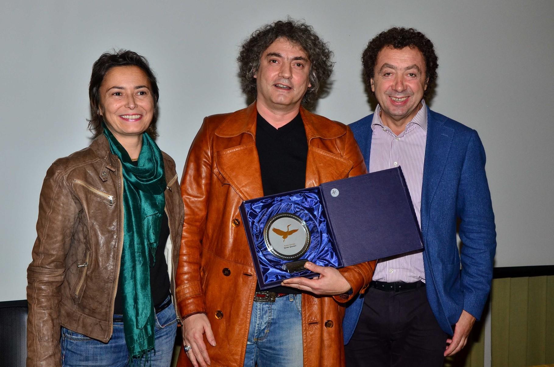Lorenzo Guarnieri (regista) e signora, Marcello Zeppi (Presidente MISFF)