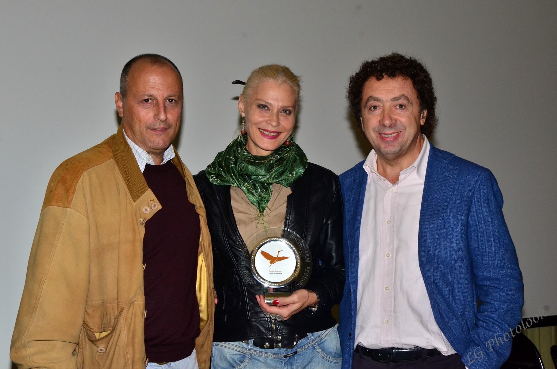 Rodolfo Martinelli (regista), Isabel Russinova (attrice), Marcello Zeppi (Presidente MISFF)