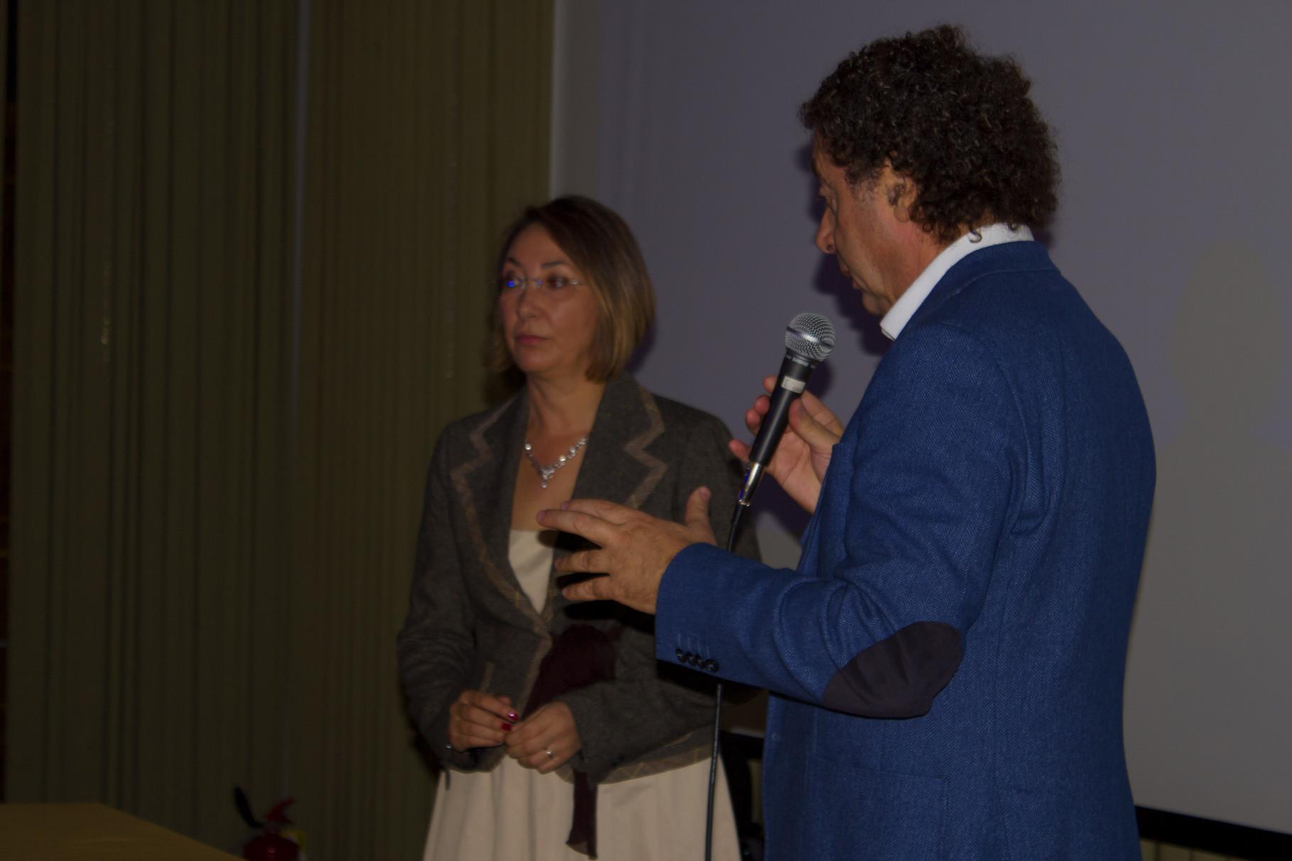 Barbara Enrichi (attrice) e Marcello Zeppi (Presidente MISFF)