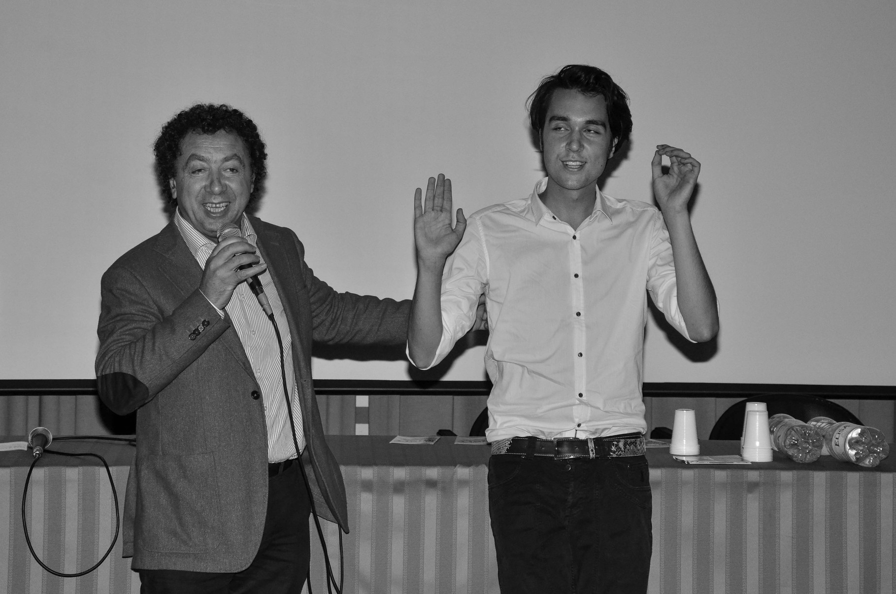 Marcello Zeppi (Presidente MISFF), Massimo de Matteis (regista)