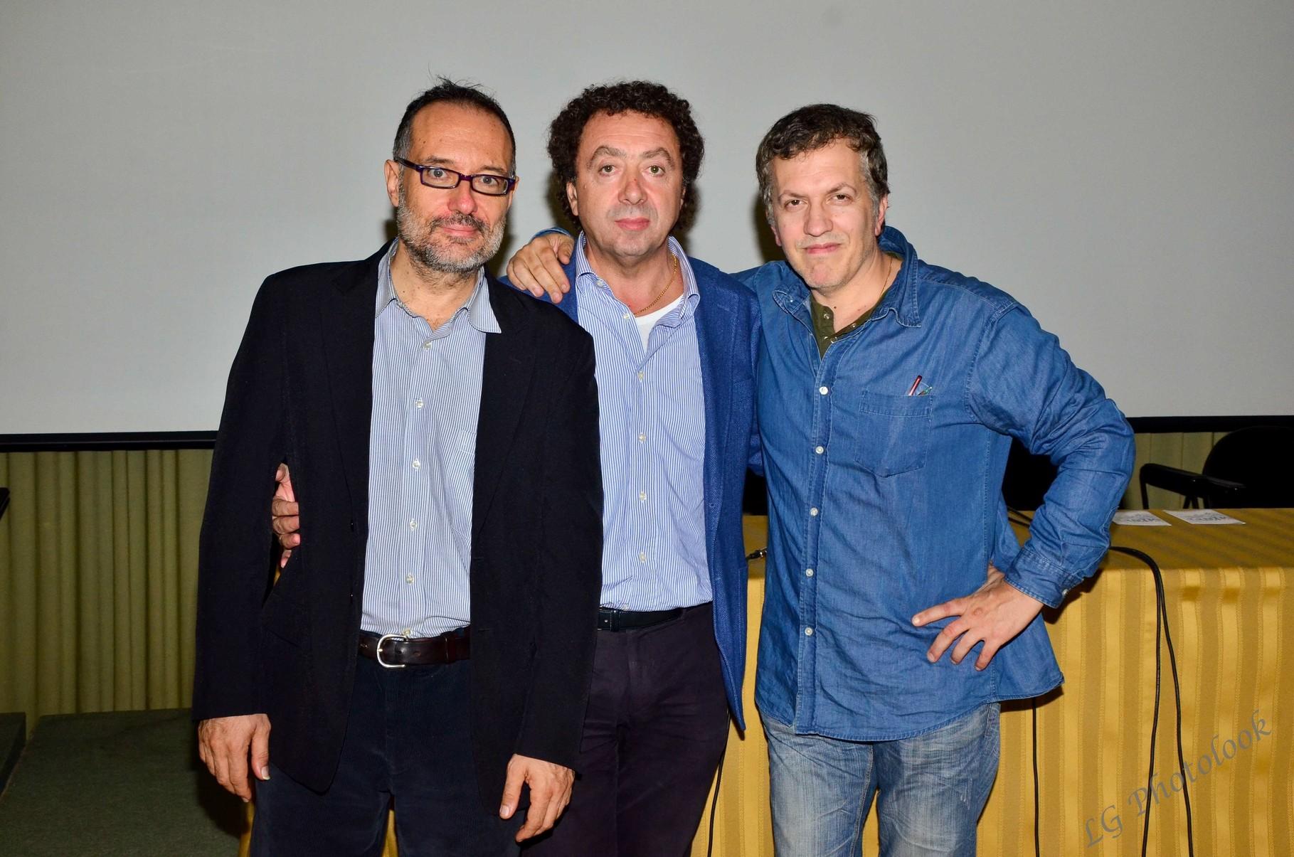 Giovanni Bogani (critico cinematografico), Marcello Zeppi (Presidente MISFF), Domenico Costanzo (regista)