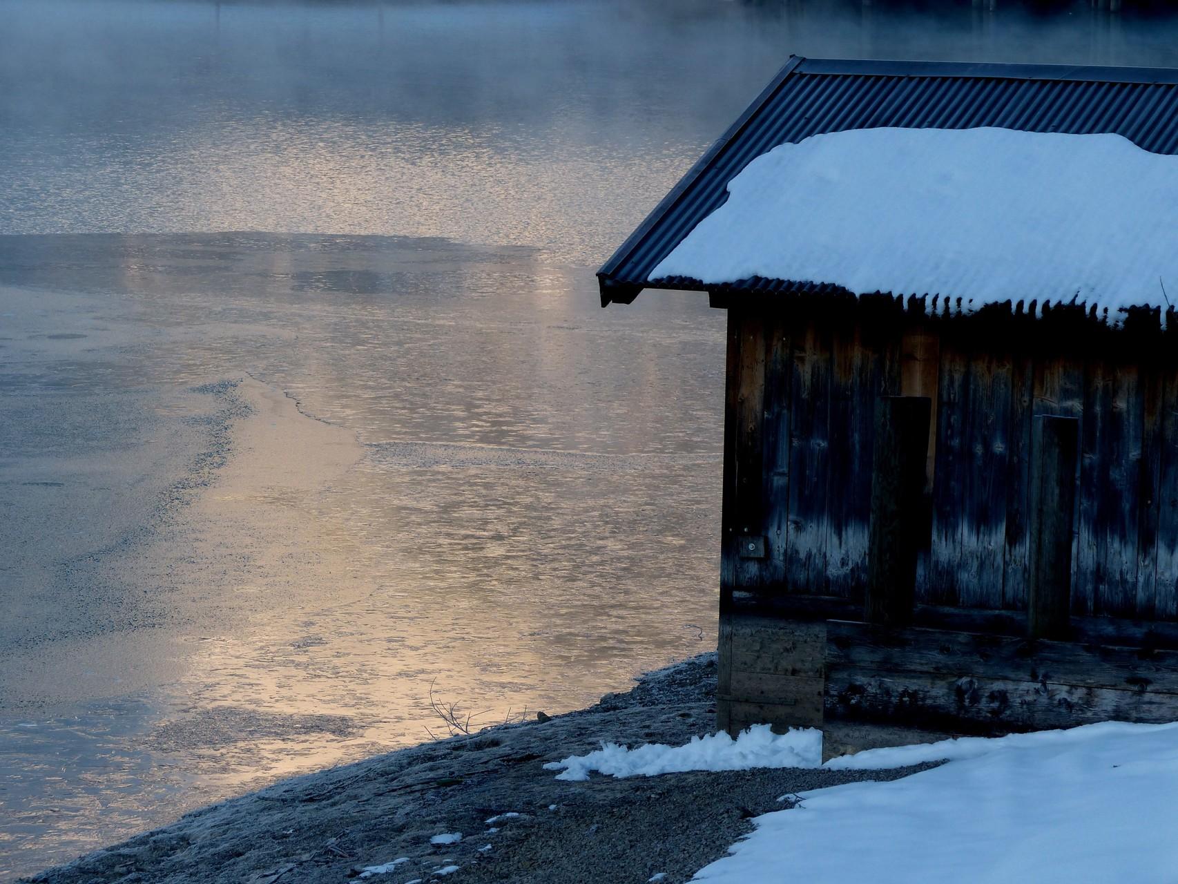 Bootshütte am Heiterwanger See