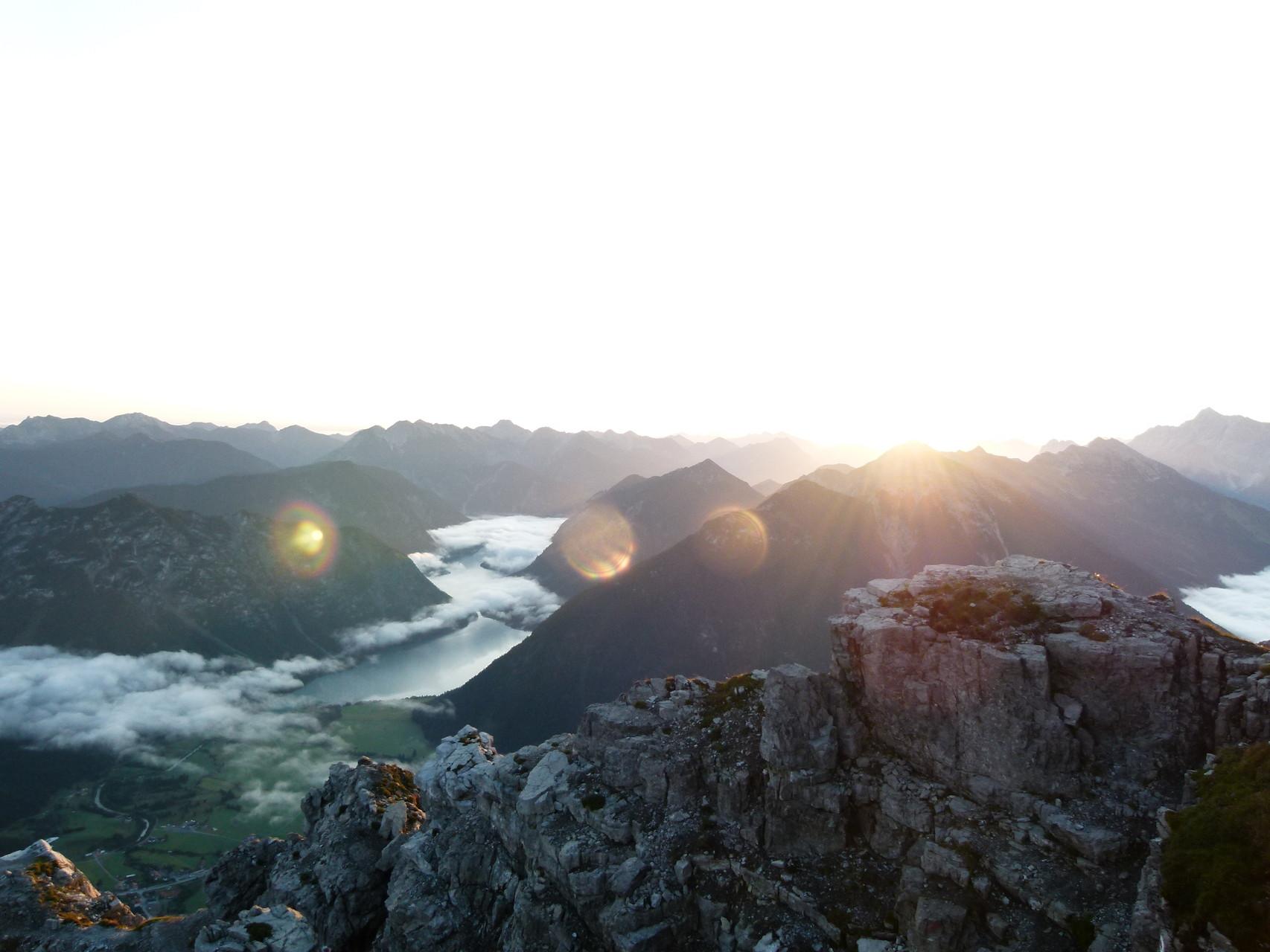 Der Heiterwanger See, zwischen dem Tauern und dem Kohlberg