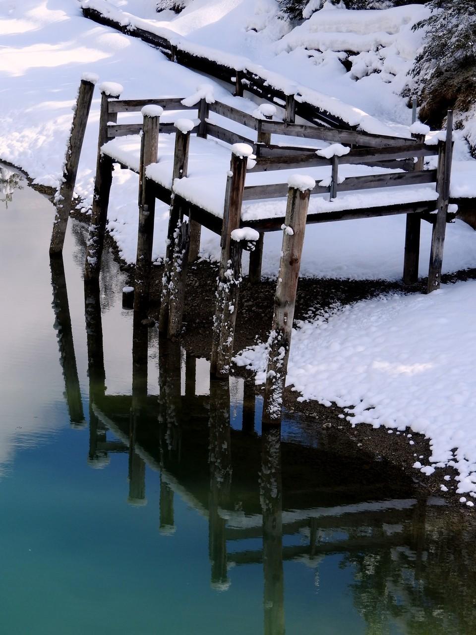 Bootsanlegestelle zwischen Heiterwanger See und Plansee