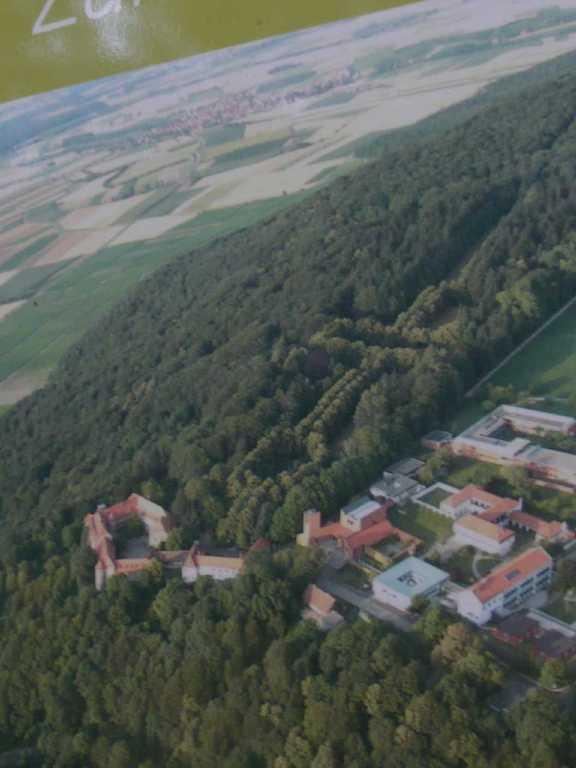 Venus-Symbol-Luftbild-Park auf dem Schwanberg