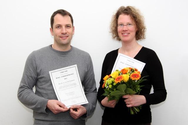 Preisverleihung 2011 an Dr. Sylvia Eimecke und Dr. Jan Pauschardt