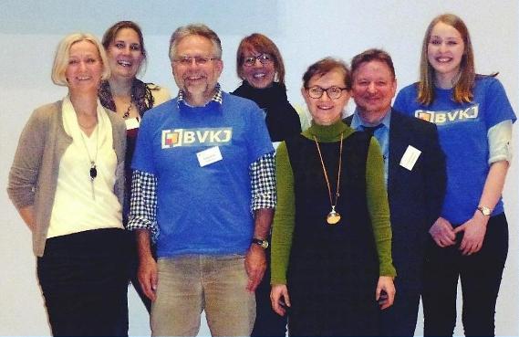 Ihr BVKJ Vorstand – Prof. Dr. Silvia Schneider, Prof. Dr. Nina Heinrichs,  Wolfgang Ihle, Dr. Dörte Grasmann, Dr. Ingrid Hösch, Dr. Frithjof Frotscher