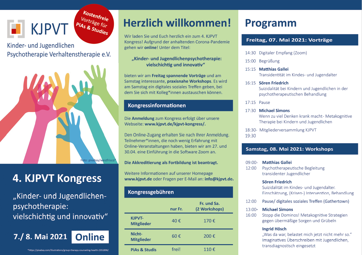 Flyer des 4. KJPVT- Kongress
