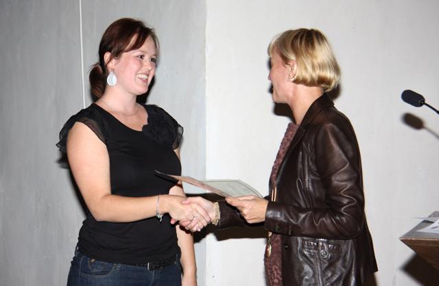 Preisverleihung 2011 an Frau Dipl.-Psych. Lisa Kristin Albrecht