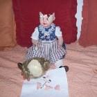 Puppenkopf vor der Restauration