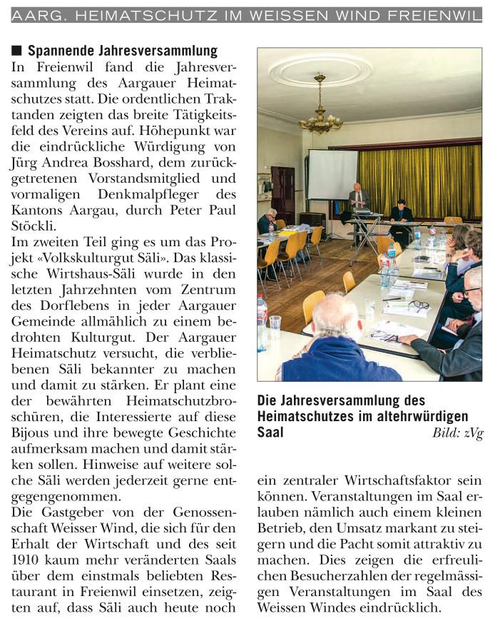 Rundschau, 13. Mai 2015