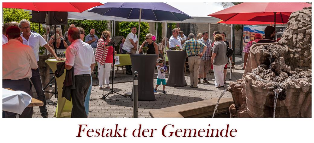Festakt der Gemeinde Flemlingen am 10. Juni auf dem Dorfplatz.