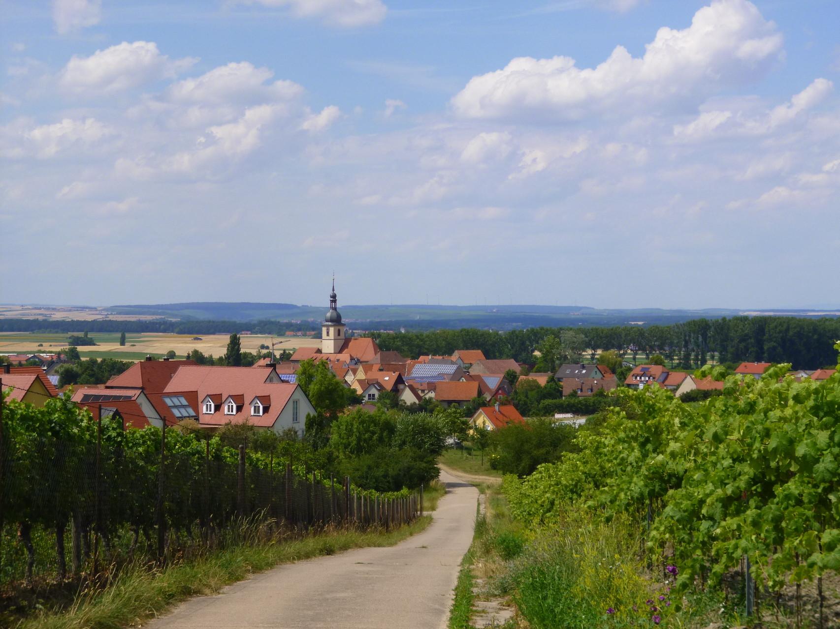 Ansicht unseres Dorfes