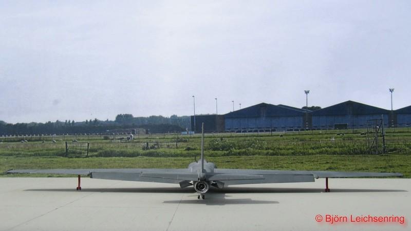 Blick auf das Pratt & Whitney J57 Triebwerk