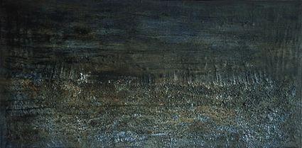 ohne Titel, Mischtechnik auf Holz, vor 7/1998, 73x148 cm