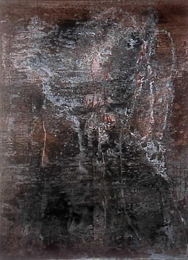 ohne Titel, 1997, 200 x 140 cm, auf Leinwand, Stahlrahmen