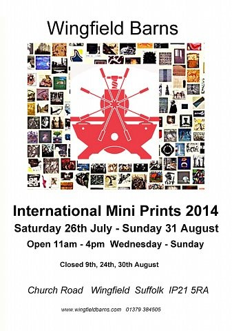 International Mini Prints 2014, Wingfield Barns, UK
