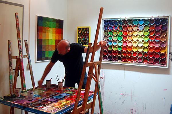 Mark Hellbusch beim Live Painting