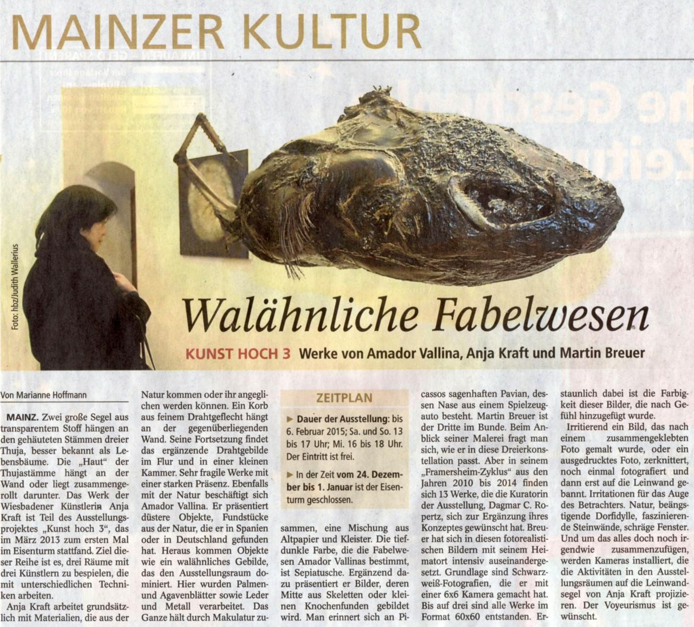 22.12.2014 Allgemeine Zeitung Mainz - Feuilleton
