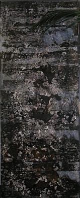 ohne Titel, 1998, 249 x 100 cm, auf Holz, Stahlrahmen