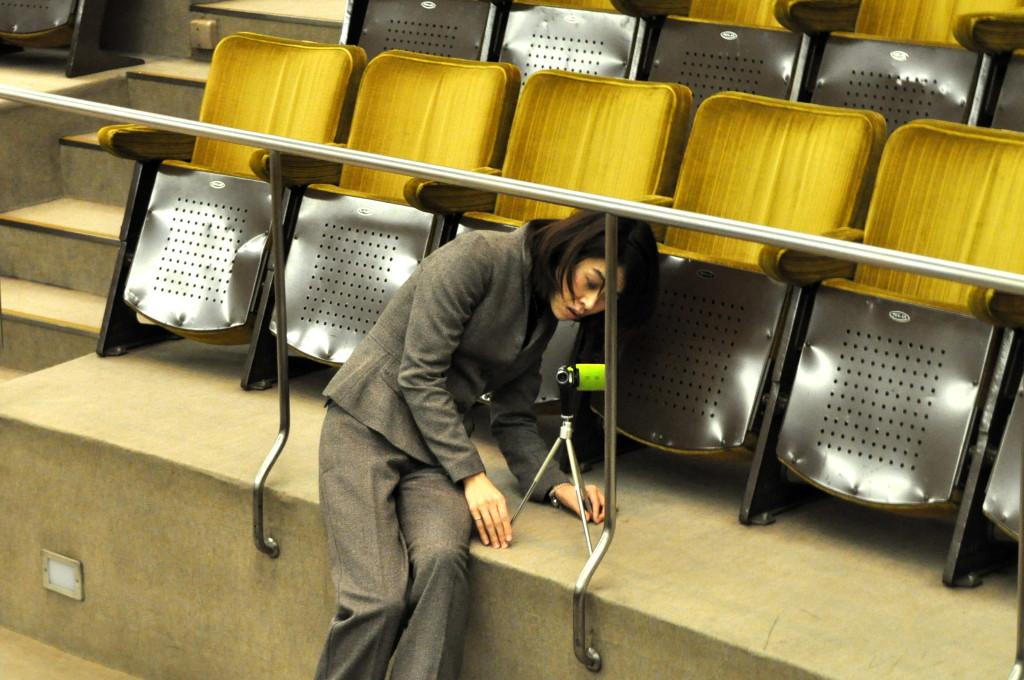 講演開始前の会場 R財団奨学生津田さん