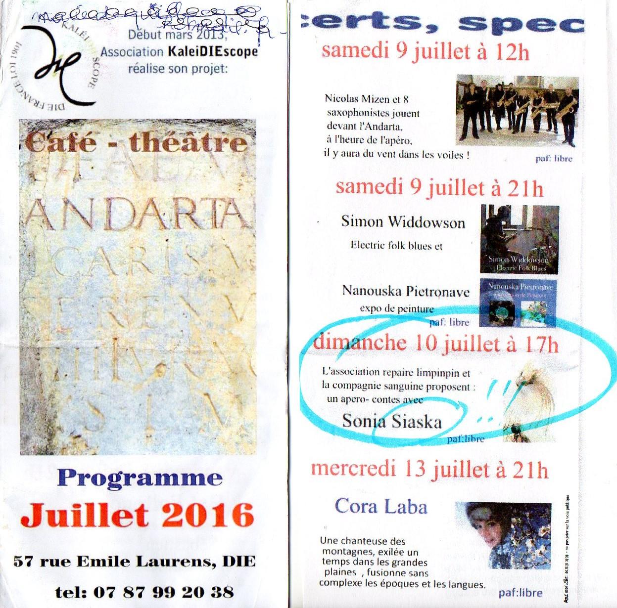 Programme de l'Andarta, à quelques erreurs près...